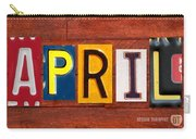April License Plate Name Sign Fun Kid Room Decor Carry-all Pouch