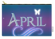 April Name Art Carry-all Pouch