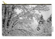 April Snow Bw Carry-all Pouch