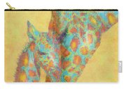 Aqua And Orange Giraffes Carry-all Pouch