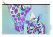 Aqua And Purple Loving Giraffes Carry-all Pouch