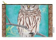Aqua Barred Owl Carry-all Pouch