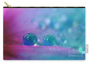 Aqua Blue Water Droplets Carry-all Pouch