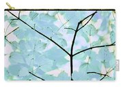 Aqua Blues Greens Leaves Melody Carry-all Pouch