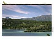 Aqua Green Mountain Lake Carry-all Pouch