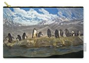 Aquarium Penguins Line Dance Carry-all Pouch