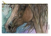 Arabian Horse And Burst Of Colors Carry-all Pouch
