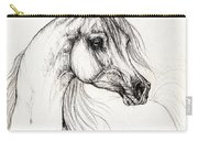 Arabian Horse Drawing 10 09 2013 Carry-all Pouch