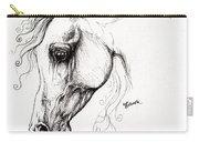 Arabian Horse Drawing 15 Carry-all Pouch by Angel  Tarantella