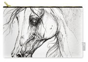 Arabian Horse Drawing 49 Carry-all Pouch