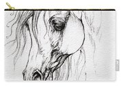 Arabian Horse Drawing Carry-all Pouch