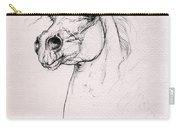 Arabian Horse Portrait 2014 02 25 Carry-all Pouch
