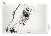 Arabian Horse Sketch 2014 05 28c Carry-all Pouch
