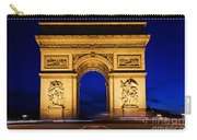 Arc De Triomphe At Night Paris France Carry-all Pouch