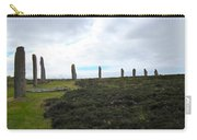 Arc Of Stones At The Ring Of Brodgar Carry-all Pouch