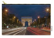 Arch De Triomphe And Avenue Des Champs Elysees Paris France Carry-all Pouch