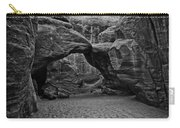 Arches National Park Black And White Carry-all Pouch