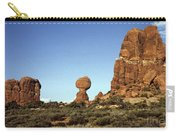 Arches National Park With Balanced Rock And Rock Formations Carry-all Pouch
