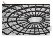 Architecture Ceiling In Black And White Carry-all Pouch