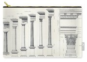 Architecture I Orders Of Architecture Engraved By Charles Lawrie Carry-all Pouch
