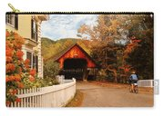 Architecture - Woodstock Vt - Entering Woodstock Carry-all Pouch by Mike Savad