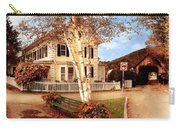 Architecture - Woodstock Vt - Where I Live Carry-all Pouch by Mike Savad
