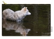 Arctic Wolf In Pond Carry-all Pouch