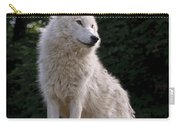 Arctic Wolf On Hill Carry-all Pouch