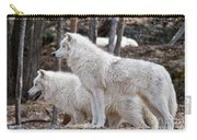Arctic Wolf Pair Carry-all Pouch