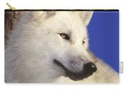 Arctic Wolf Portrait Wildlife Rescue Carry-all Pouch