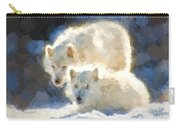 Arctic Wolves - Painterly Carry-all Pouch