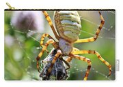 Argiope Spider And Grasshopper Vertical Carry-all Pouch