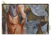 Aristotle And Plato Detail Of School Of Athens Carry-all Pouch