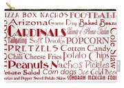 Arizona Cardinals Game Day Food 1 Carry-all Pouch