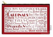 Arizona Cardinals Game Day Food 2 Carry-all Pouch