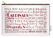 Arizona Cardinals Game Day Food 3 Carry-all Pouch