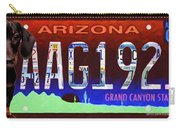 Arizona License Plate Carry-all Pouch