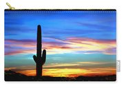 Arizona Sunset Saguaro National Park Carry-all Pouch