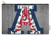 Arizona Wildcats College Sports Team Retro Vintage Recycled License Plate Art Carry-all Pouch