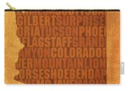 Arizona Word Art State Map On Canvas Carry-all Pouch