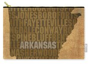 Arkansas Word Art State Map On Canvas Carry-all Pouch