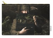 Army Soldier With Security Screen Saver Carry-all Pouch