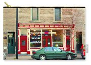Aromate Resto Cafe Rue St Jacques St Henri  Montreal Urban Food City Scenes Carole Spandau Carry-all Pouch