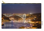 Arrabida Bridge At Night In Porto And Gaia Carry-all Pouch