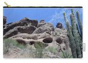 Art 1904 American Landscape Cactus Stone Mountains And Skyview By Navinjoshi Artist Toronto Canada Carry-all Pouch