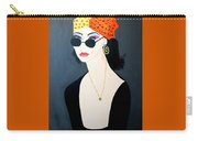 Art Deco  Hippy Girl Carry-all Pouch
