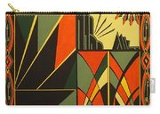 Art Deco In Orange Carry-all Pouch