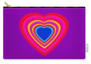 Art Heart Blue Carry-all Pouch