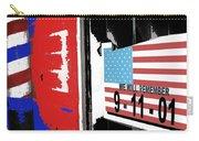 Art Homage Jasper Johns American Flag 9-11-01 Memorial Collage Barber Shop Eloy Az 2004-2012 Carry-all Pouch
