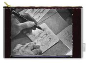 Art Homage Ted Degrazia Pen Ink Drawing On Camera Kvoa Tv Studio January 1966  Carry-all Pouch